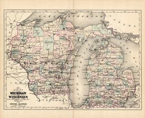 Michigan and Wisconsin