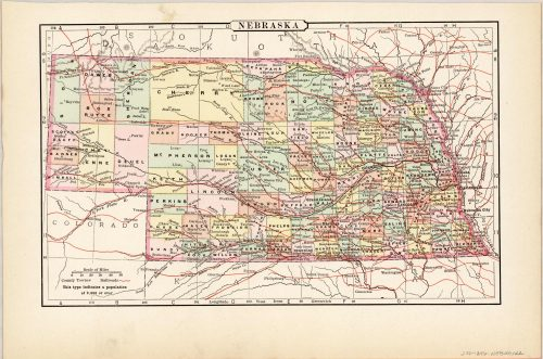 Map of Nebraska