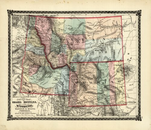 County Map of Idaho