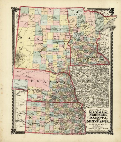County Map of Kansas