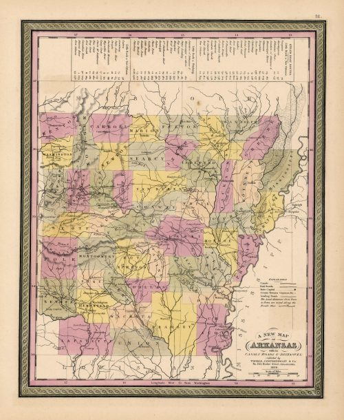 A New Map of Arkansas with its Canals