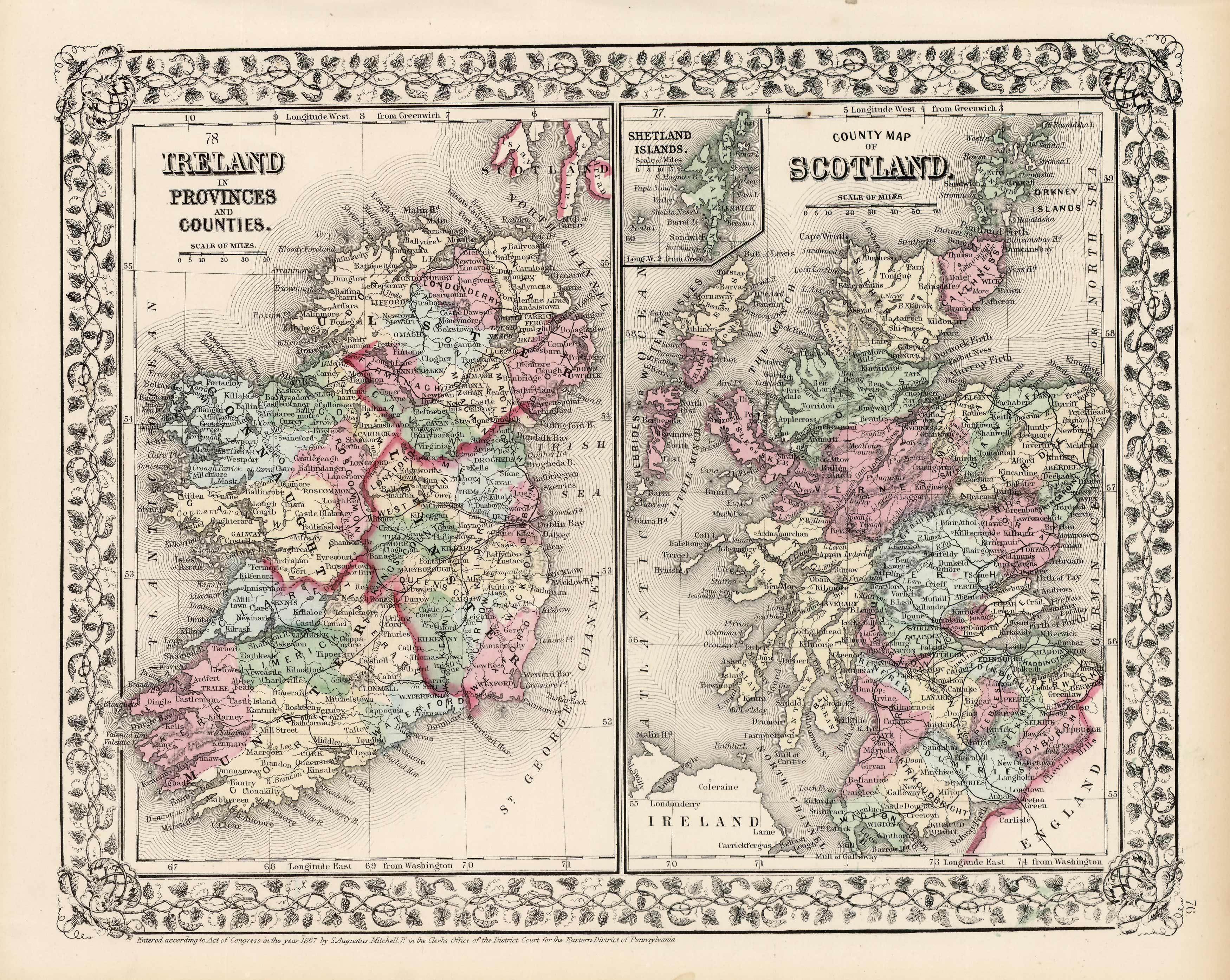 Ireland in Provinces and Counties