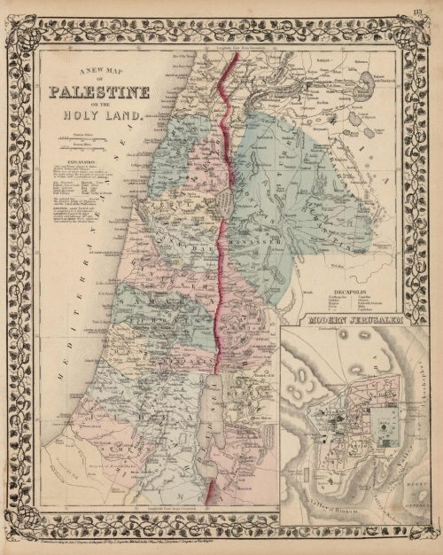 A New Map of Palestine or the Holy Land