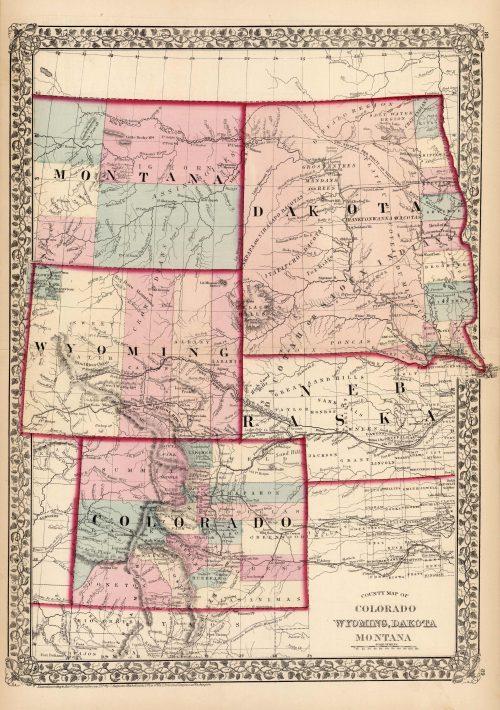 County Map of Colorado