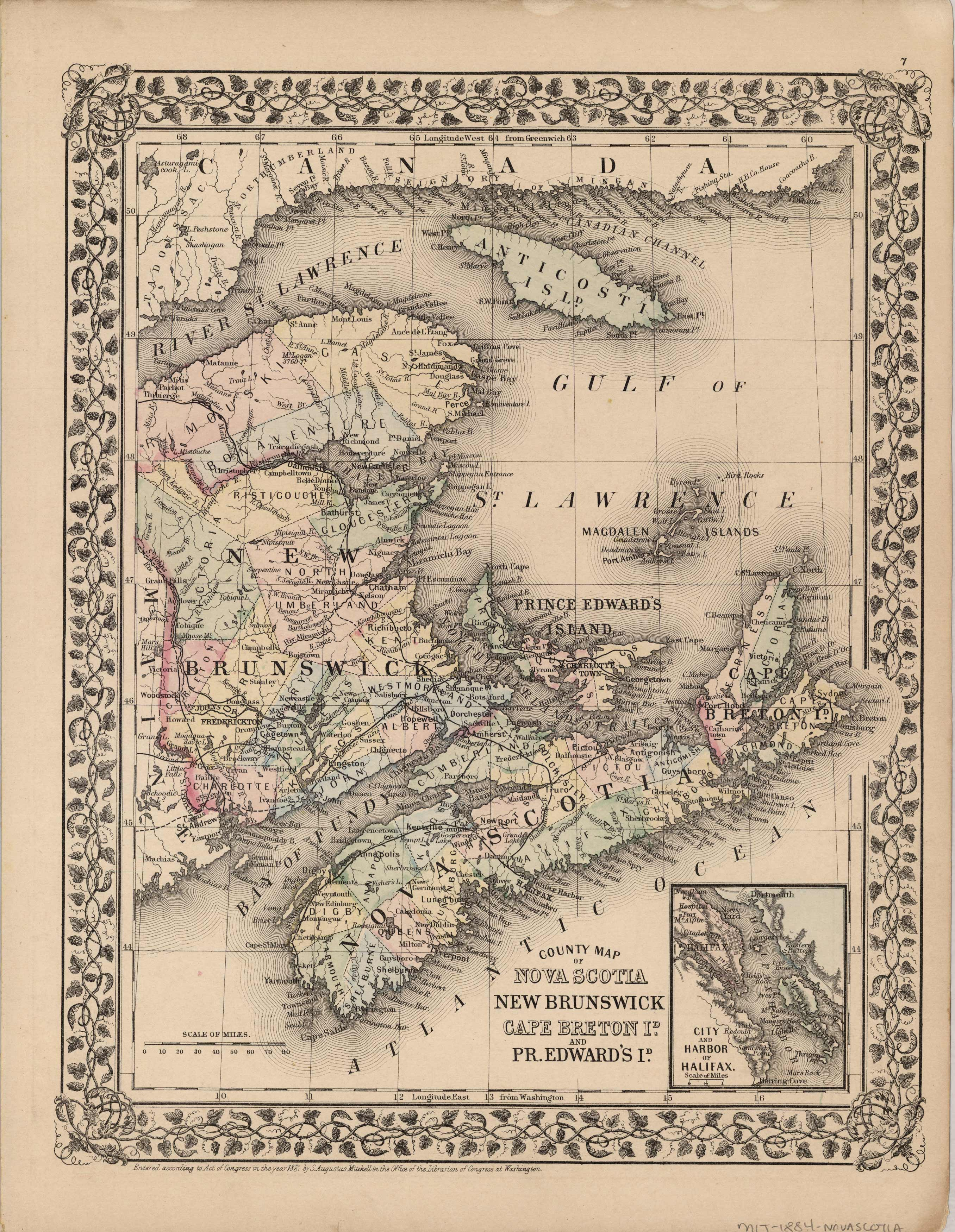 County Map of Nova Scotia