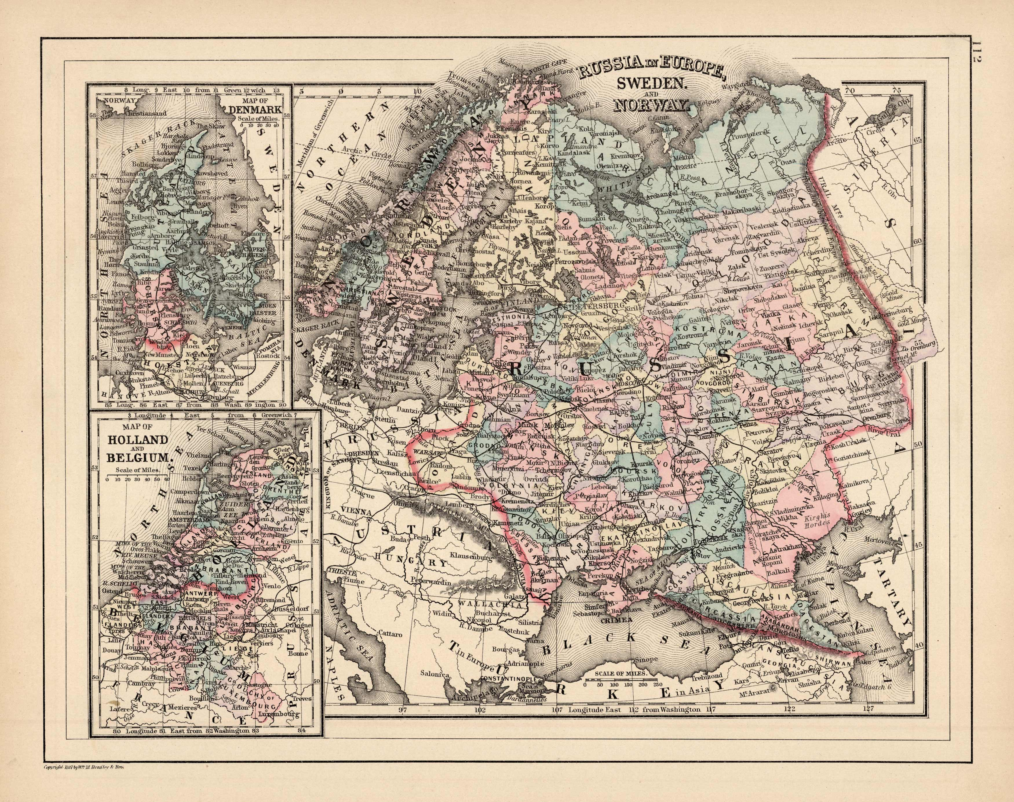 Picture of: Russia In Europe Sweden And Norway Map Of Denmark Map Of Holland And Belgium Art Source International