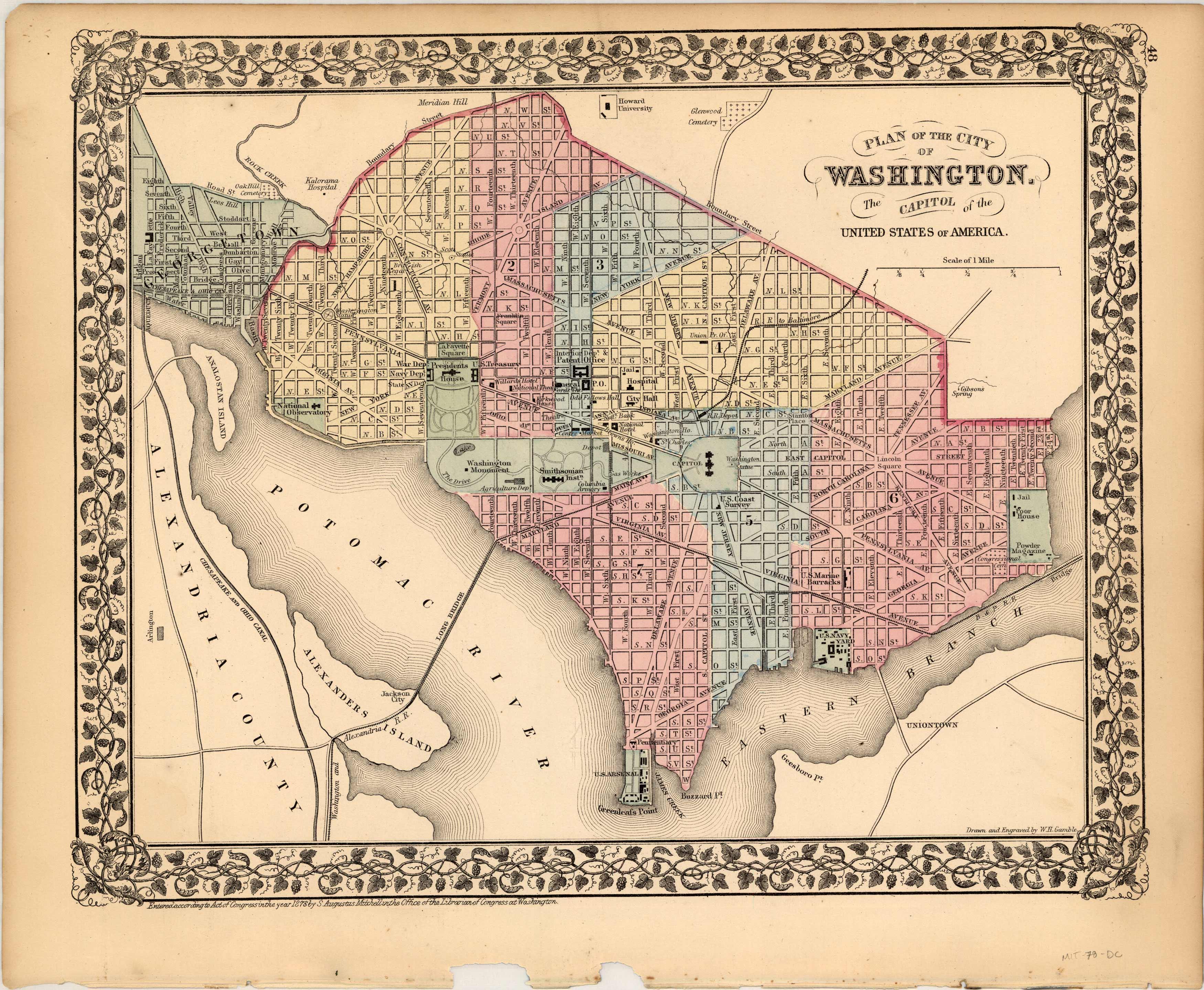 Plan of the City of Washington