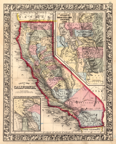 County Map of California