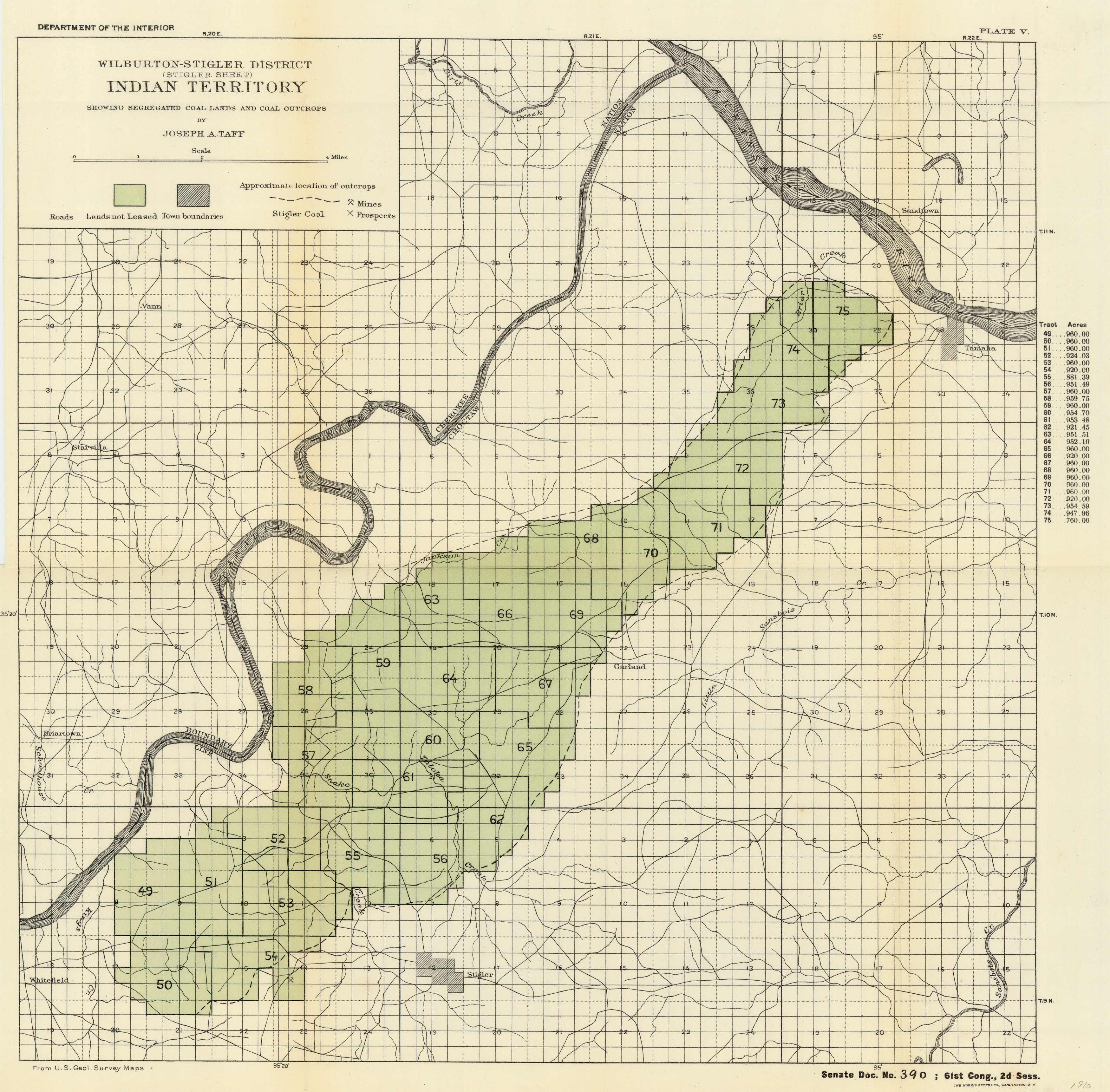 Wilburton-Stigler District (Stigler Sheet) - Indian Territory