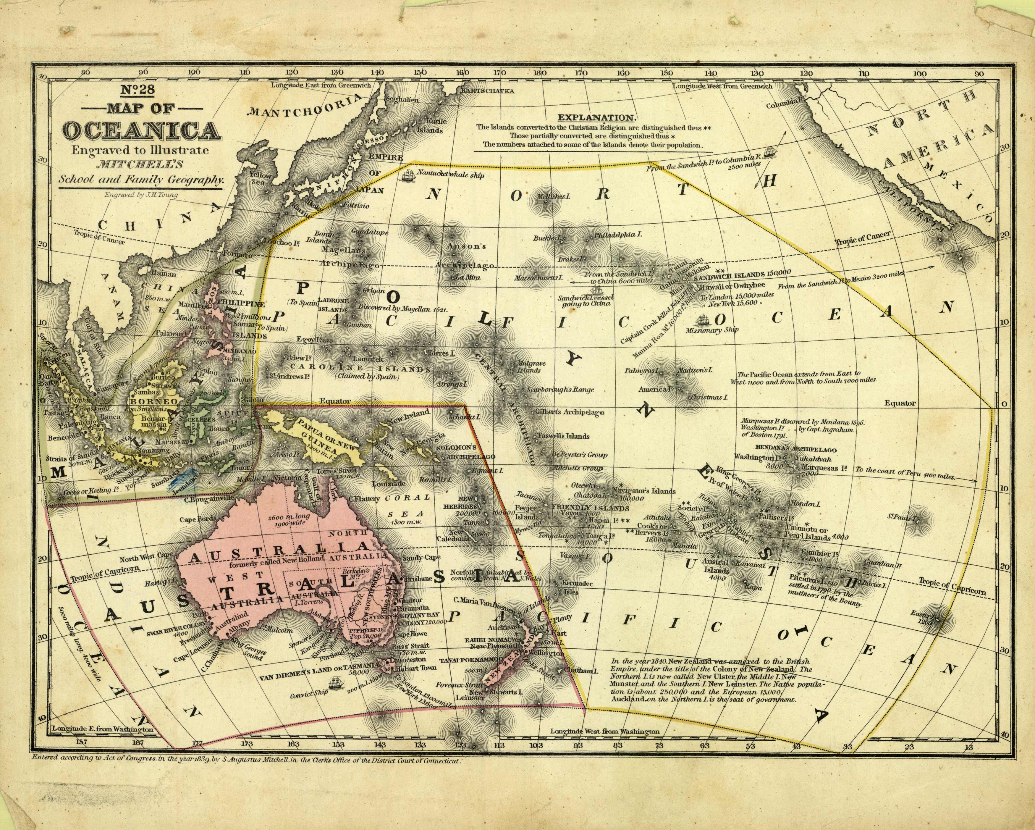 No. 28 - Map of Oceanica