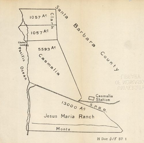 [Ranchland along the Pacific Ocean in Californias Santa Barbara County]'