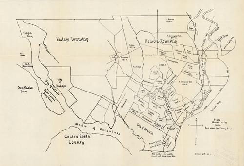[Ranchland along San Pablo Bay in Californias Vallejo and Benicia Townships]]'