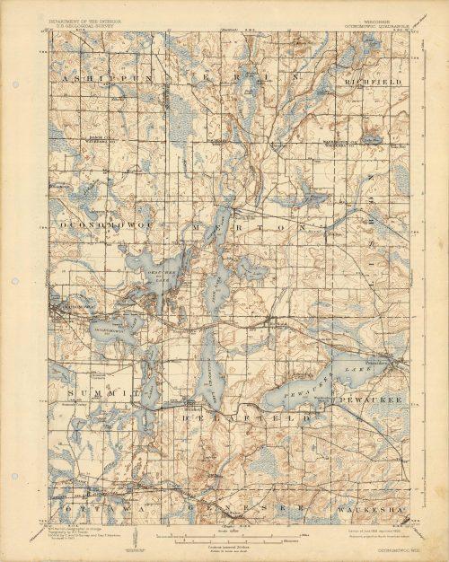 Wisconsin - Oconomowoc Quadrangle