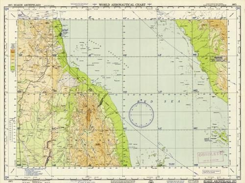 World Aeronautical Chart - Suakin Archipelago (Sudan