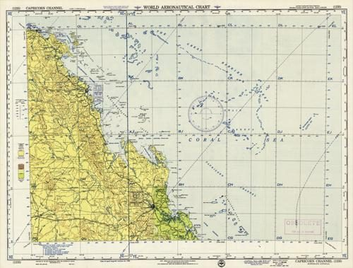 World Aeronautical Chart - Capricorn Channel - Queensland