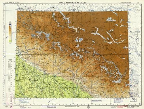 World Aeronautical Chart - Kailas Range (China