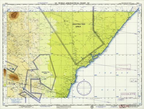 World Aeronautical Chart - Kilimanjaro (Somalia