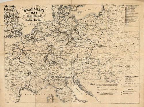 Bradshaws Map of the Railways