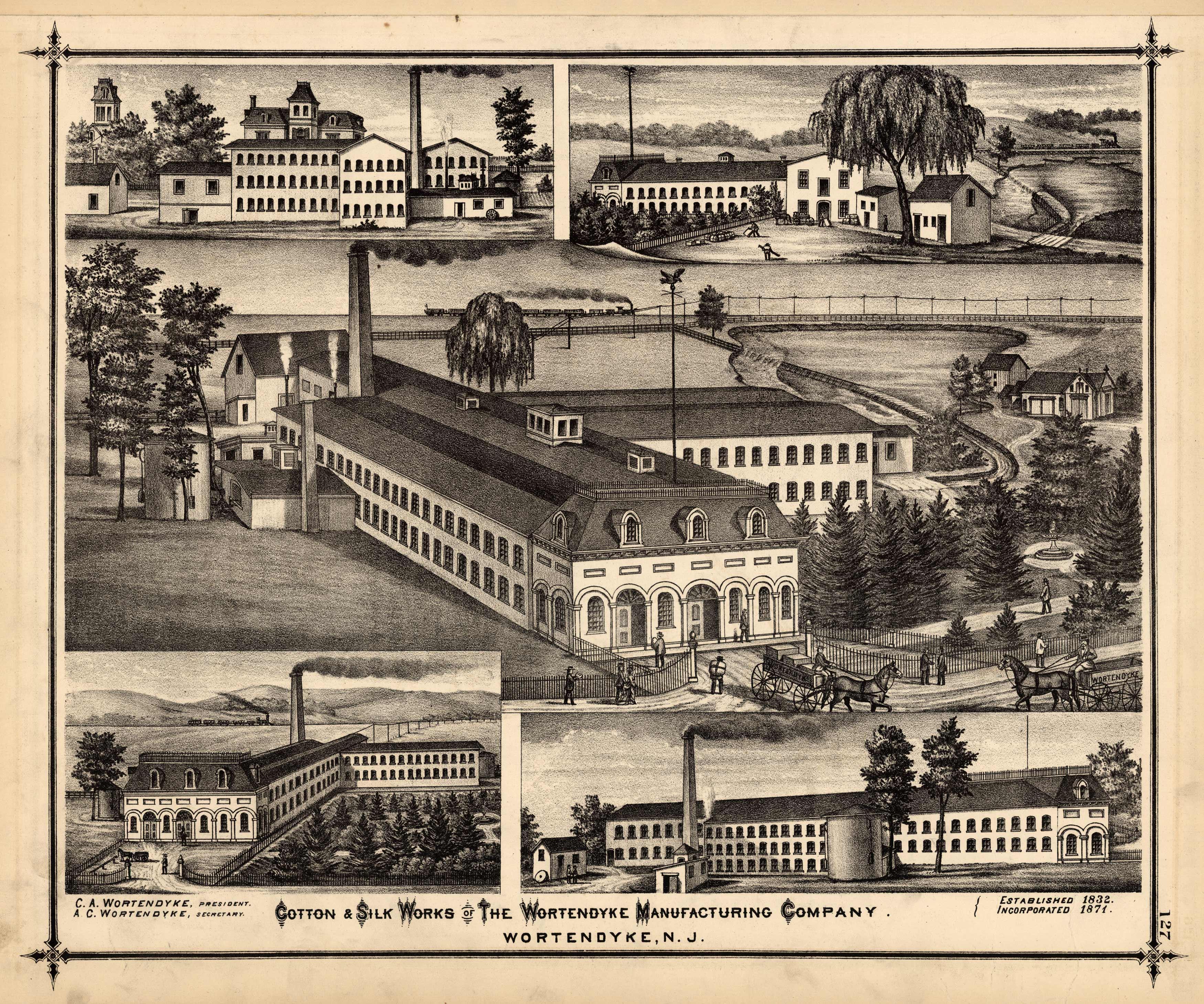 Cotton & Silk Works of The Wortendyke Manufacturing Company. Wortendyke