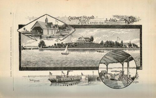 Calumet Island Residence of Chas. G. Emery