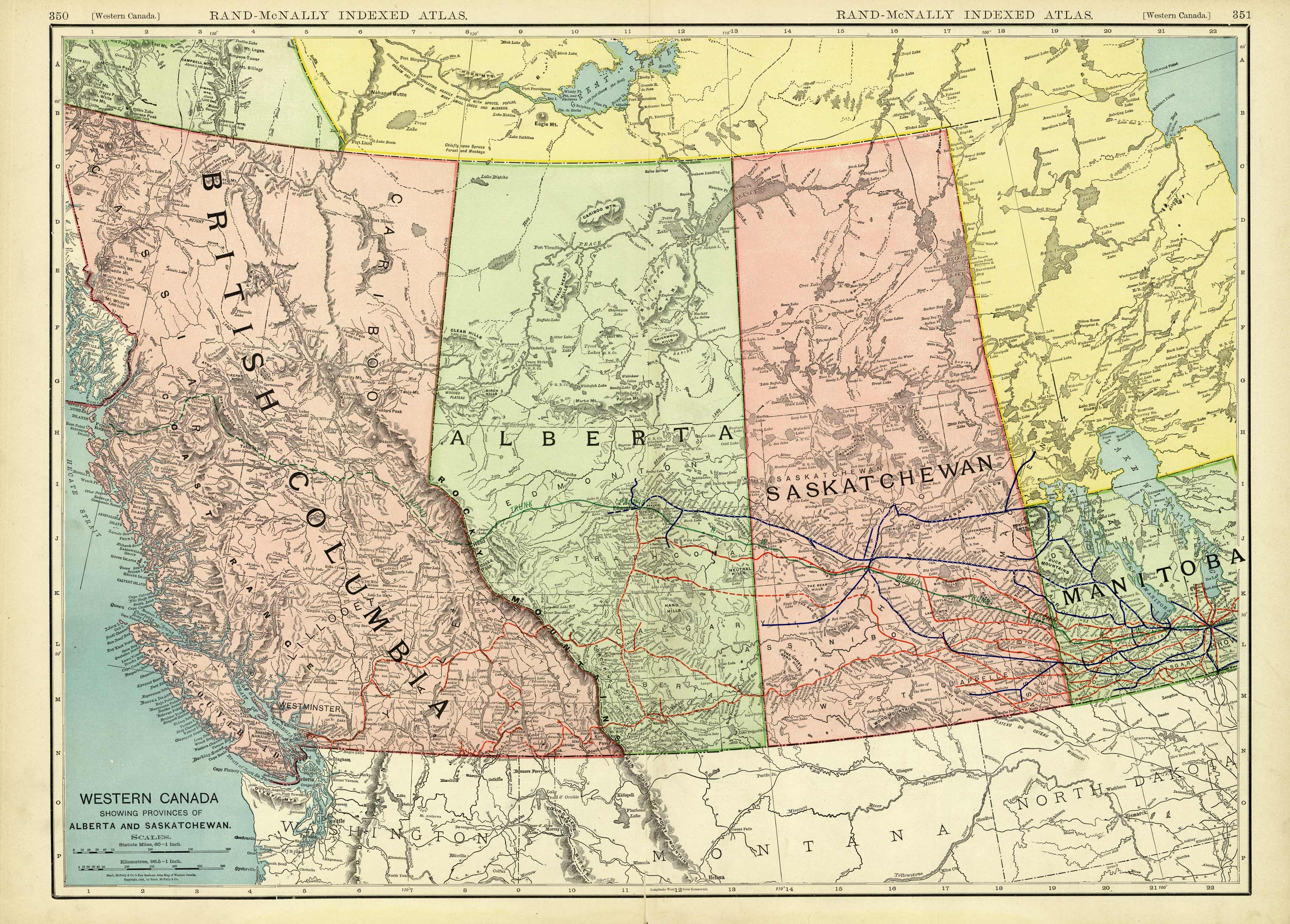 Western Canada Showing the Provinces of Alberta and Saskatchewan