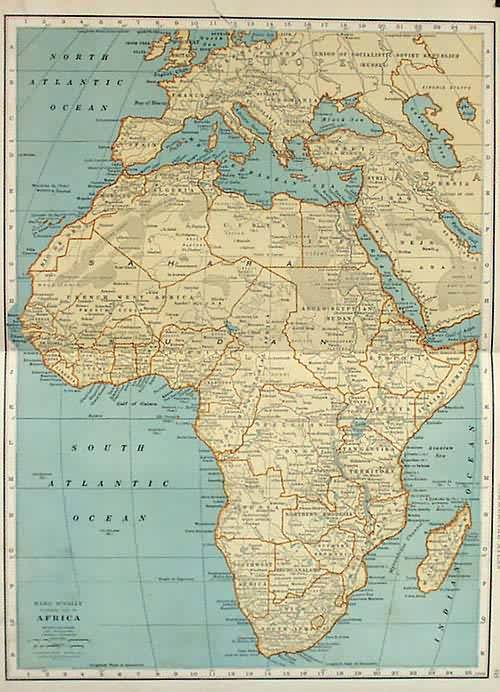 Rand McNally Standard Map of Africa