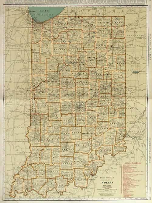 Rand McNally Standard Map of Indiana
