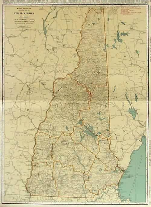 Rand Mcnally Standard Map of New Hampshire