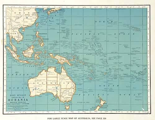 Rand McNally Popular Map of Oceania