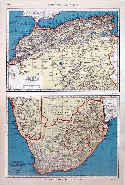 Rand McNally Popular Map of Algeria