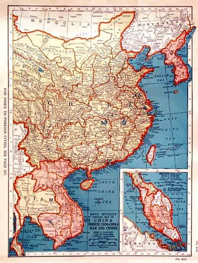 Rand McNally Popular Map of China