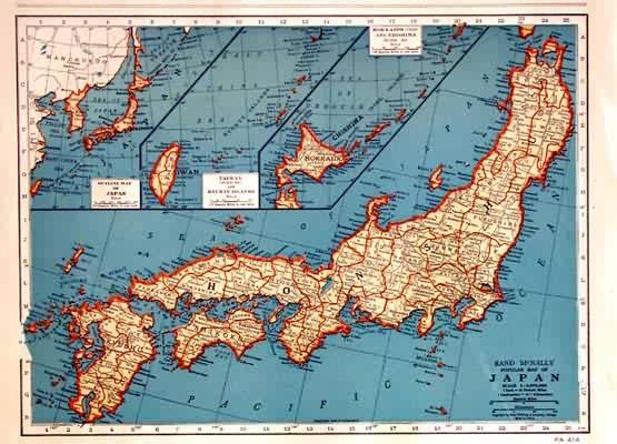 Rand McNally Popular Map of Japan