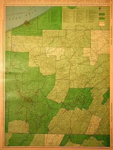 Rand McNally Standard Map of Pennsylvania
