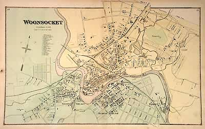 Map of Woonsocket