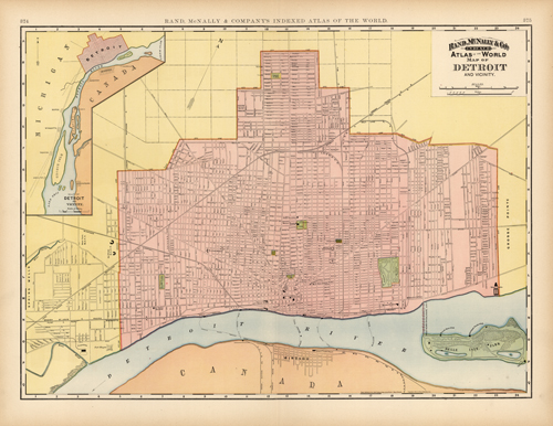 Map of Detroit and Vicinity
