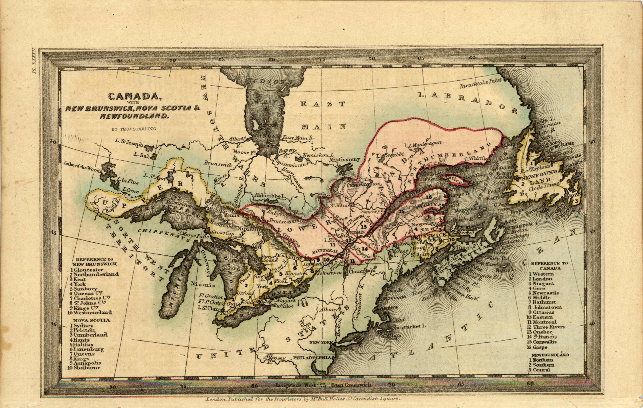 Canada with New Brunswick