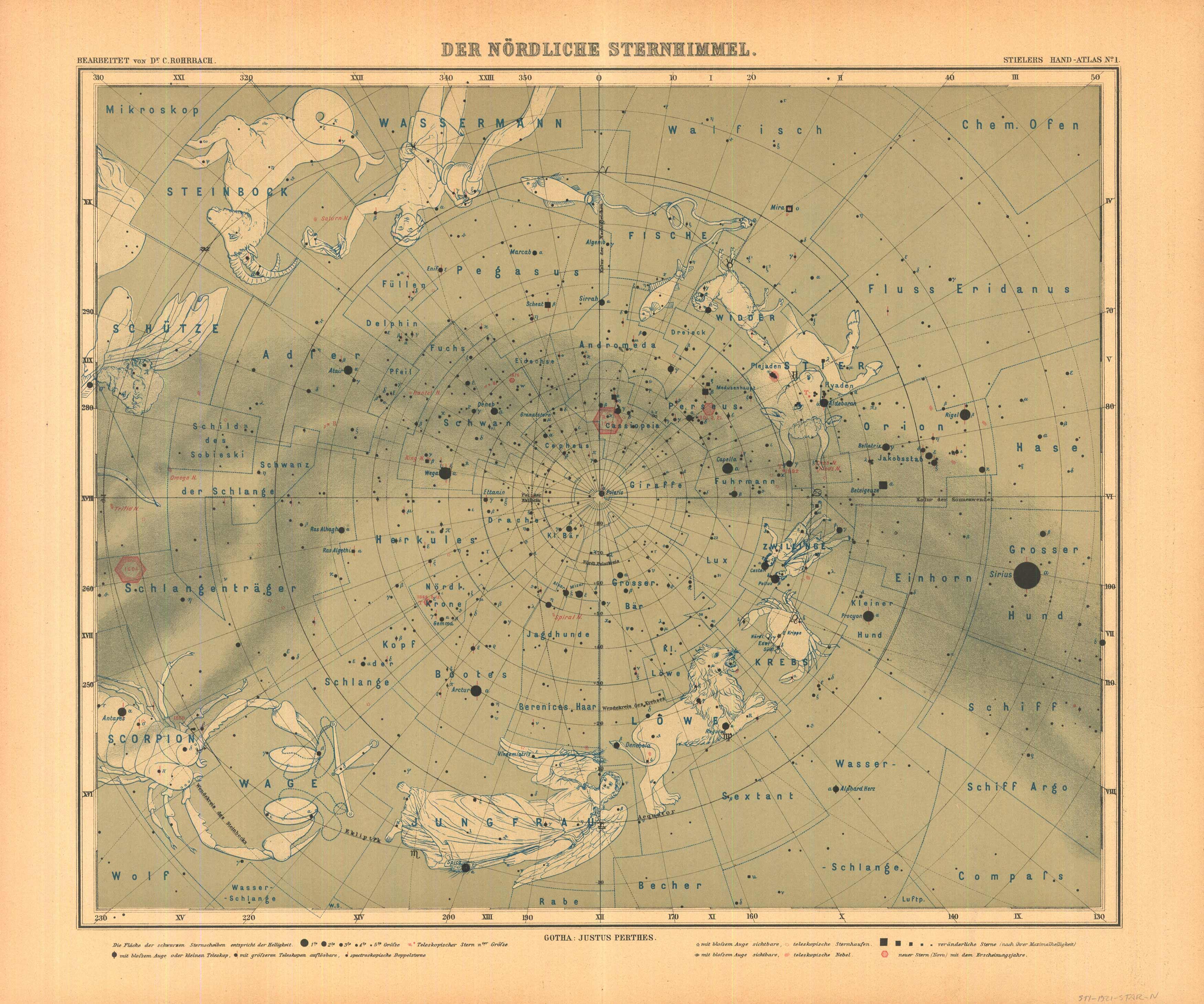 Der Noerdliche Starnhimmel (The Northern Star Sky)