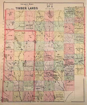 Stuarts Maps of Timber Lands of Maine No.4'