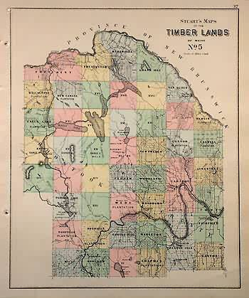 Stuarts Maps of Timber Lands of Maine No.5'