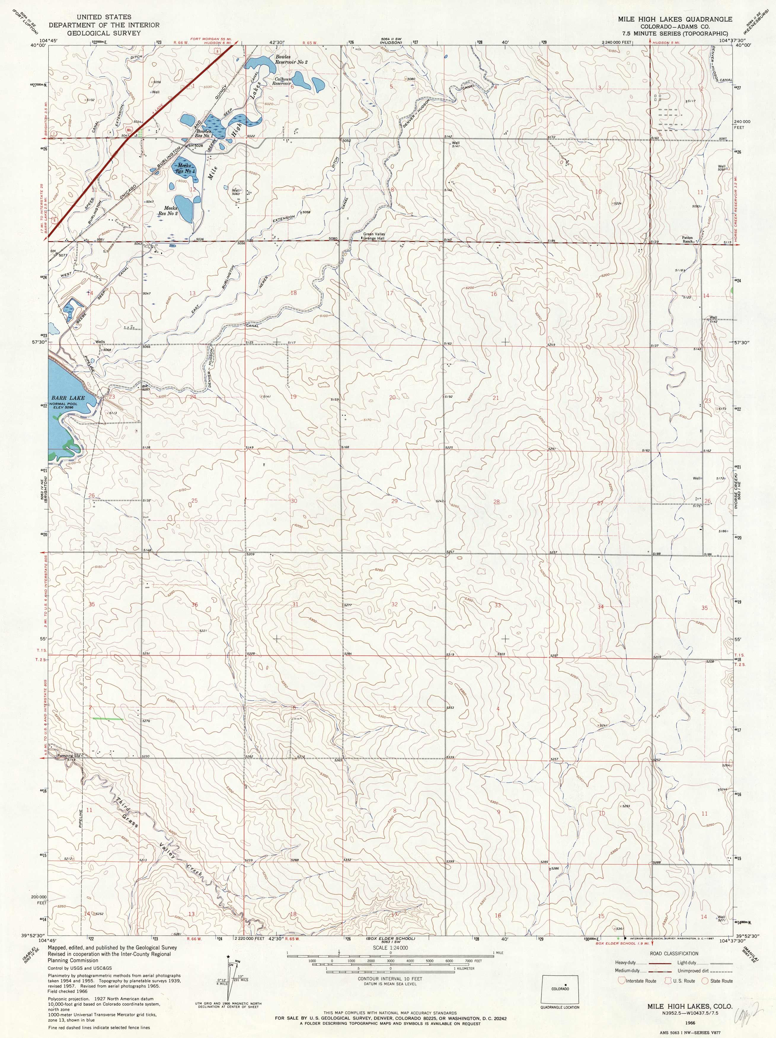 Mile High Lakes Quadrangle