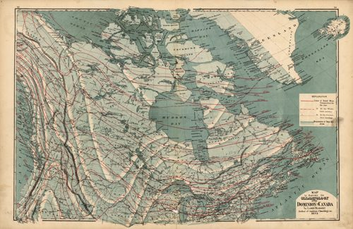 Map to Illustrate the Climatology of the Dominion of Canada