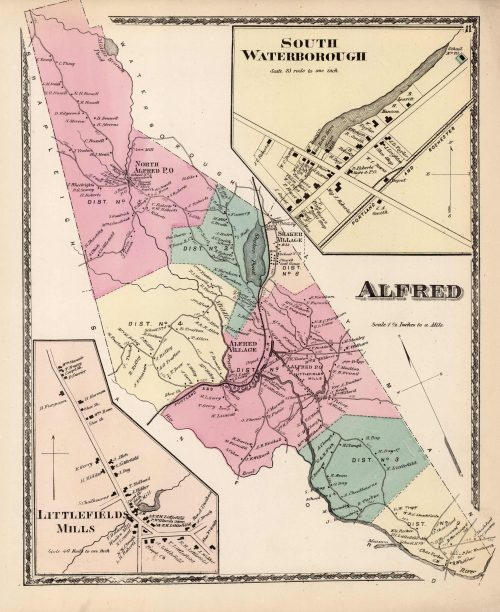 Alfred. South Waterborough. Littlefields Mills. (Maine)