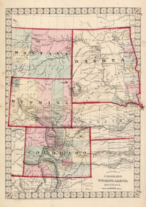 County Map of Colorado