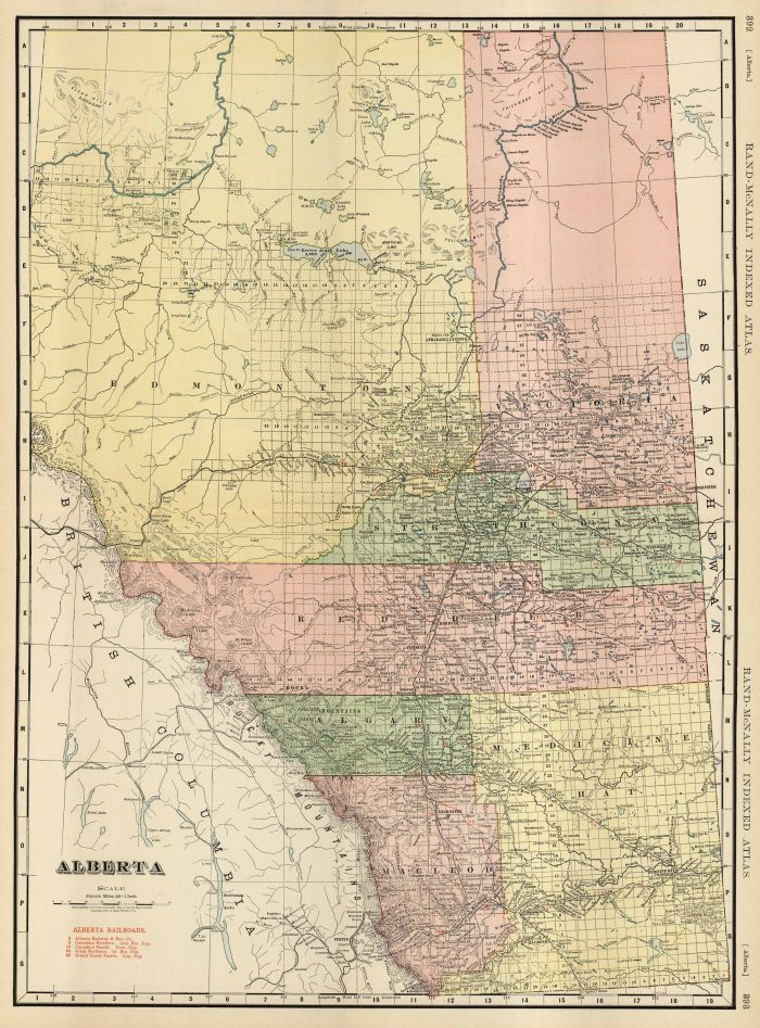 McNally's 1923 Map of Alberta on map of british columbia, map of banff national park, map of saskatchewan, map of ab, map of toronto, map of lesser slave lake, map of england, map of illinois, map of china, map of arizona, map of calgary, map of russia, map of us, map of ontario, map of cuba, map of mississippi, map of quebec, map of maine, map of nunavut, map of canadian rockies, map of bc, map of world, map of usa, map of new york, map of switzerland, map of delaware, map of vancouver, map of alaska, map of manitoba, map of europe, map canada, map of greece, map of victoria, map of yukon, map of indiana, map of north america, map of nova scotia,