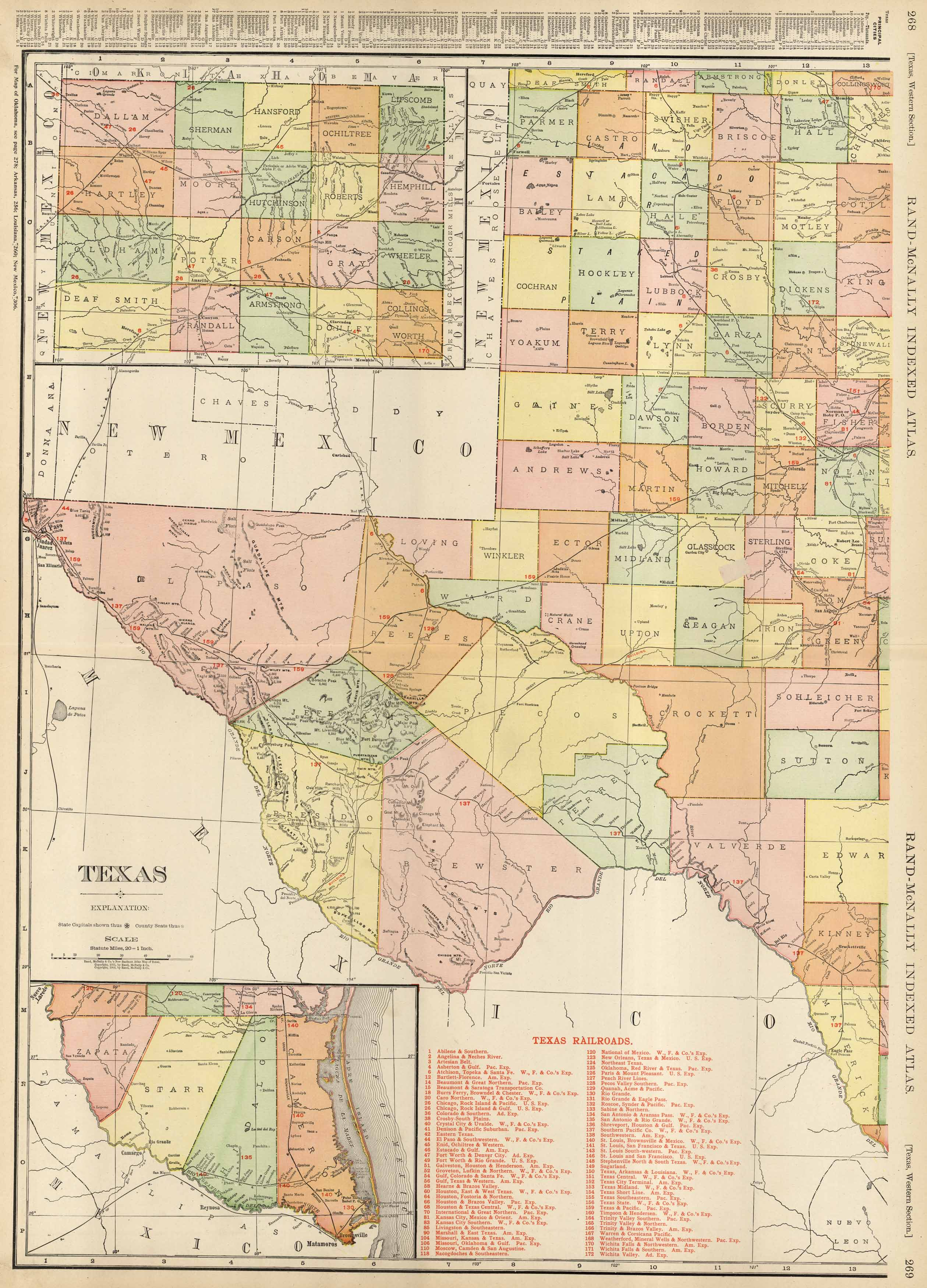 Map Of New Mexico Oklahoma And Texas