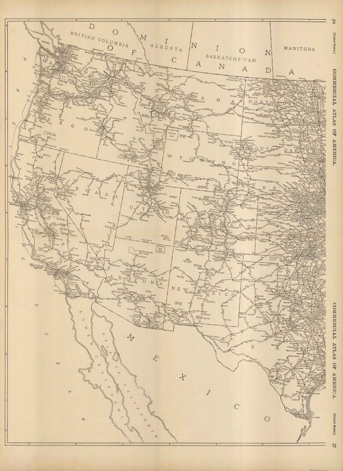 McNally\'s 1922 Map of Western United States